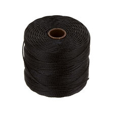 Beadsmith superlon 0.5mm Kumihimo grano Cable 77 Yarda Carrete (70m) Negro (C53/8)