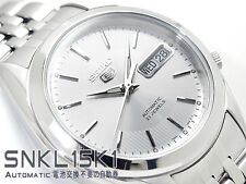 Seiko 5 Men's SNKL15K1 Stainless Steel Automatic 21 Jewels Day Date Watch