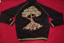 LRG Roots And Equipment Embroidered Men's Track Jacket Black Size XXL 2X