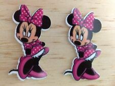 Disney Minnie Pink Inspired Planar Resin-Cabochon-Plastic-Hair Bow Center-Supply