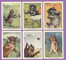 CATS  -  CRYSTAL  CAT  CARDS  -  SET  OF  6  LOUIS  WAIN  CAT  CARDS  -  DIABOLO