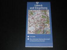 Fahrradkarte Tourenkarte Radwanderungen Deutschland Nord: Lübeck