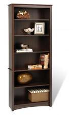 """Prepac Sonoma 77 Bookcase 6 shelf in Espresso EDL-3277-K , 77""""H x 31.5""""W x 13""""D"""