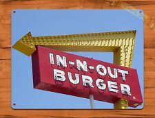 """TIN-UPS TIN Sign """"In N Out Burger"""" Vintage Restaurant Beer Store California"""