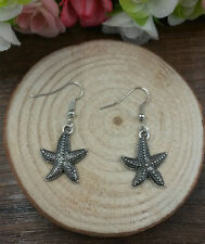 antique Silver Jewelry, Starfish earrings handmade fashion@2