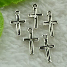 free ship 1440 pieces tibet silver cross charms 15x8mm #3540