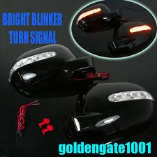 Black Mirror Cover Amber LED Signal Blinker L+R For MERCEDES W163 ML320 ML430 GG