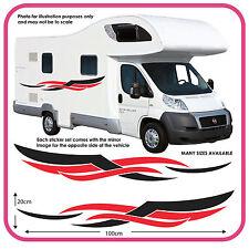 Autocaravana Vinilo gráficos Stickers Calcomanías furgoneta Camper RV Caravan Horsebox mh4b