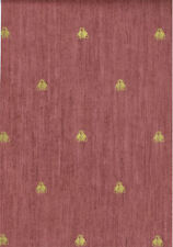 Gold Napoleonic Bee on Red Faux  Wallpaper - 7236768