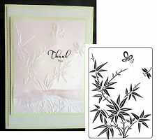 BAMBOO & BUTTERFLY Embossing Folders Crafts Too CTFD3109 Cuttlebug Compatible