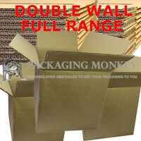 BRAND NEW DOUBLE WALL CARDBOARD MAILING REMOVAL BOXES - 100% RECYCLABLE RANGE