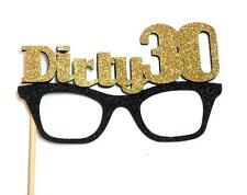Photo Booth Props - Dirty 30 Birthday Glitter Glasses x 1PC
