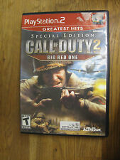 SONY PLAYSTATION 2 PS2 CALL OF DUTY 2 BIG RED ONE GAME SPECIAL EDITION COMPLETE