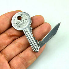 "Portable Key Knife Folding Shaped Pocket 3.6"" Long Utility Blade Mini Peeler V"