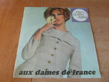 CATALOGUE MODE VINTAGE FASHION AUX DAMES DE FRANCE Printemps Spring 1969