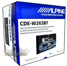Alpine CDE-W265BT Double DIN Bluetooth In-Dash CD/AM/FM Car Stereo New CDEW256BT