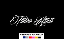 "TATTOO ARTIST Decal Sticker 14"" Art Shop Car Window ink sign gun tattoos"