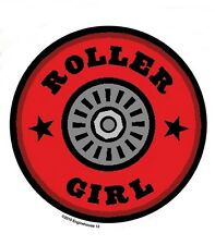 ROLLERGIRL hELMET ROLLER DERBY GIRL STICKER/VINYL CAR DECAL ENGINEHOUSE 13