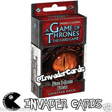Game Of Thrones LCG Conquest And Defiance 3/6 Fire Made Flesh Chapter Pack Deck
