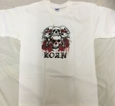 Official Licensed KORN Skull & Roses T-Shirt X/Large NEW RARE