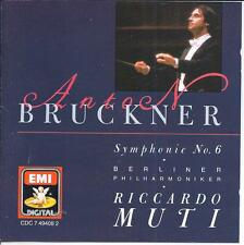 BRUCKNER Symphony No. 6, RICCARDO MUTI, Berliner Philharmoniker CD LIKE NEW