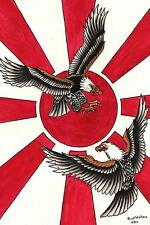 Duel in the Sun by Rick Walters Fine Art Print American Traditional Eagle Tattoo