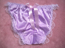 PRETTY & COMFORTABLE STRING SATIN SISSY PANTY  2X SIZE  PURPLE COLOR