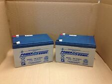 2 (Pair) X Power Sonic 12V 12AH MOBILITY VEHICLE WHEELCHAIR & SCOOTER BATTERIES