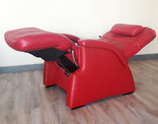 RED LEATHER THE PERFECT CHAIR RECLINER PC electric recline Human Touch power