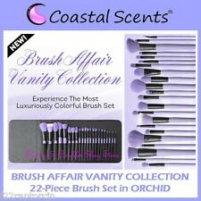 NEW Coastal Scents 22 BRUSH AFFAIR VANITY COLLECTION Set in Orchid FREE SHIPPING