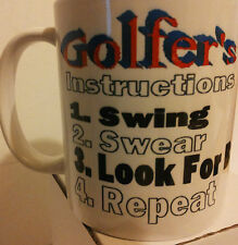 Golf Instructions Ceramic Coffee Mug  ANY design of your Choice Have It YOUR Way