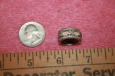 Vintage Silver-tone Metal & Glass Rhinestones Ring size 4