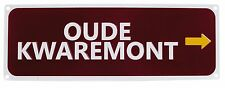 New Oude Kwaremont Replica Road Sign Free P&P