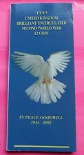 1995  ROYAL MINT SECOND WORLD WAR 50TH ANN  DOVE OF PEACE TWO POUND  £2  COIN