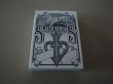 SILVER SPLIT SPADES DECK OF PLAYING CARDS BY DAVID BLAINE POKER MAGIC TRICKS