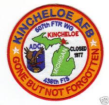 USAF BASE PATCH, KINCHELOE AFB, MICHIGAN, 507TH FW, 486TH FIS, ADC,  GBNF      Y