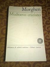 """Libri/Riviste/Giornali """" MEDIOEVO CRISTIANO """" Morghen/Laterza"""
