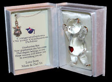 Graduation gift for her, poem box Owl necklace keepsake Unusual Cellini gifts