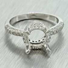 Vintage Estate Women's Platinum G VS1 0.40ctw Diamond Mounting Engagement Ring