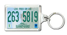 NEW HAMPSHIRE USA LICENSE PLATE KEYRING SOUVENIR LLAVERO