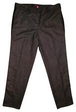 VINCE CAPUTO Black Gray Striped Sides Pleated Dress Pants PETITE 12