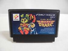 NES -- BUCKY O'HARE -- Famicom. Action. Rare. Japan game. Work fully!! 10977