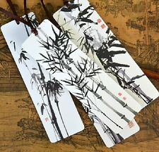 4 pieces,lot Xu beihong Traditional Chinese Painting paper bookmark of