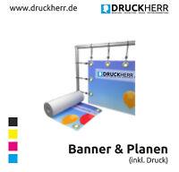NEU WERBEPLANE WERBEBANNER BANNER PVC-PLANE WERBEPLAKAT POSTER INKL. DRUCK ÖSEN