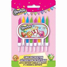 Shopkins Cake Decoration Candles 8 Pack with Holders Birthday Candles