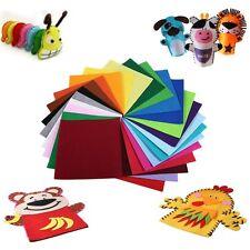 40PCS 30x30cm Rainbow Colorful Felt Sheets DIY Craft Polyester Fabric SM