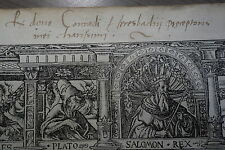 1523 STRABON GEOGRAPHIE EX DONO CONRAD HERESBACH ERASME HANS HOLBEIN IN FOLIO EO