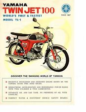 1967 Yamaha Twin Jet 100cc YL-1   motorcycle sales brochure, (Reprint) $6.00