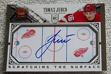 13/14 Crown Royale Tomas Jurco Scratching the Surface Rookie Card Auto Red Wings