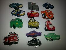 DISNEY CARS 13pc set SHOE CHARMS LOT FOR CROC SHOE JIBBITZ BRACELETS,MATER,BOYS